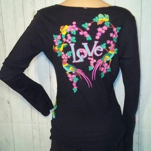 Johnny Was Love Embroidered Boho Top